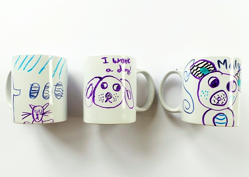 Drawing On Mugs Art Party at Jennifer Grace Creates
