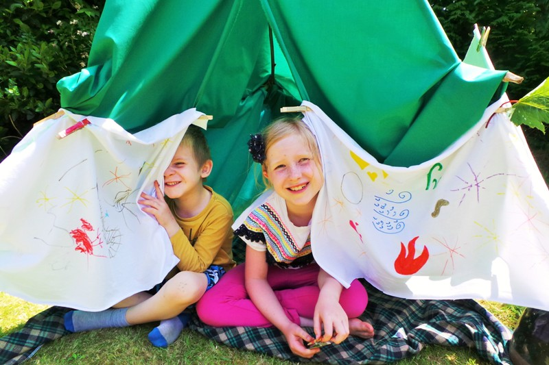 DIY Play Tent Summer Fun at Jennifer Grace Creates