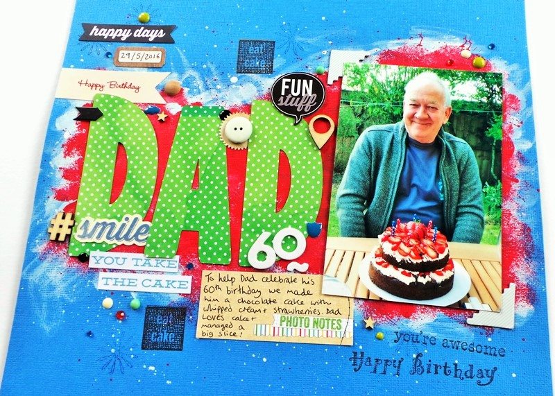 DAD Layout With A Painted Background at Jennifer Grace Creates