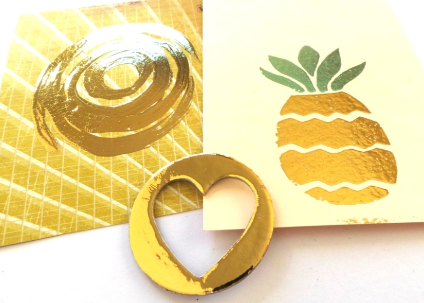 Foiled Embellishments Using The Heidi Swapp Minc Reactive Paint