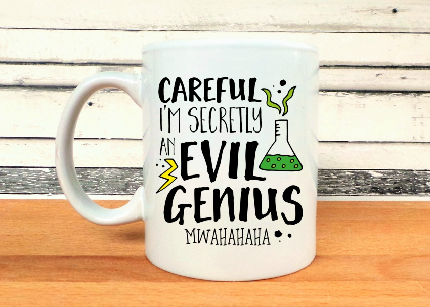 Careful I'm Secretly An Evil Genius Mug - Jennifer Grace Creates
